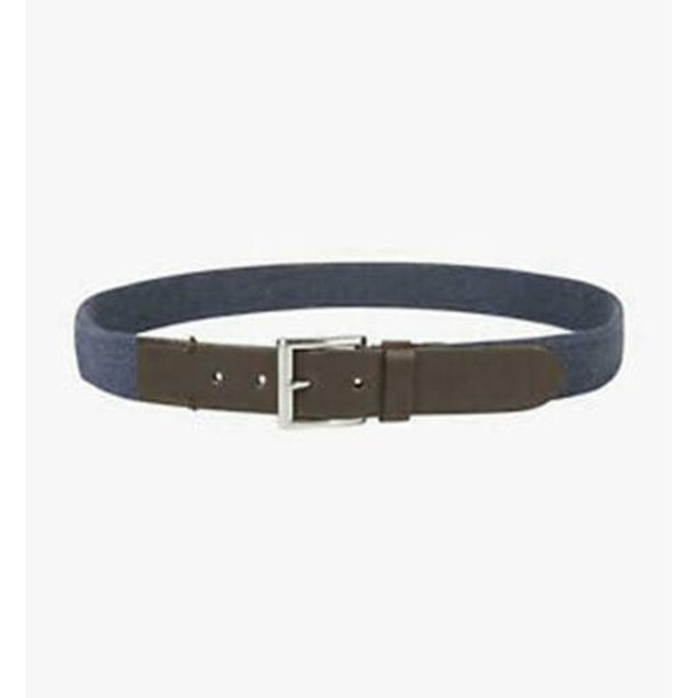 Club Room Men's Casual Stretch Belt  Blue Size Large