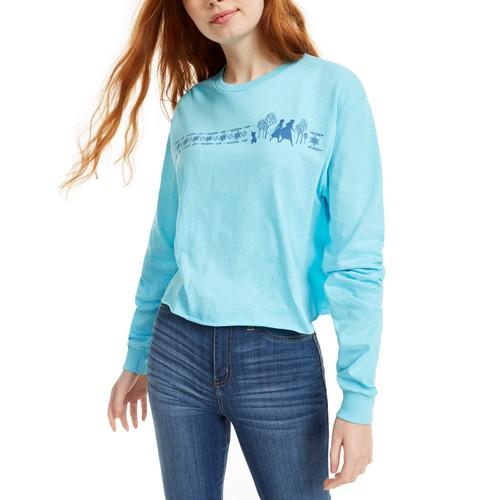 Mad Engine Women's Disney Juniors' Frozen Graphic T-Shirt Blue Size Small