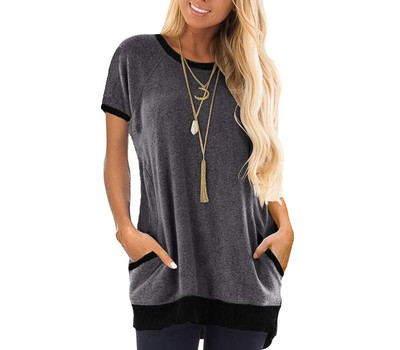 Women's Slouchy Pocket Tee Was: $19.99 Now: $15.99.