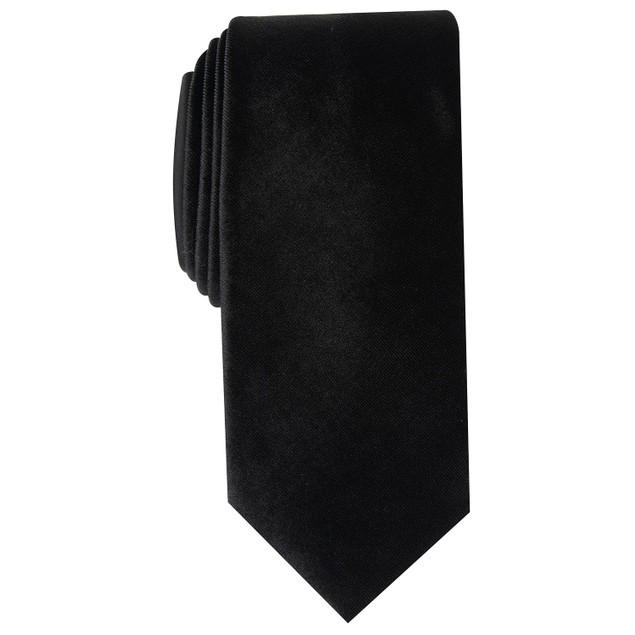 Alfani Men's Slim Velvet Tie Black Size Regular