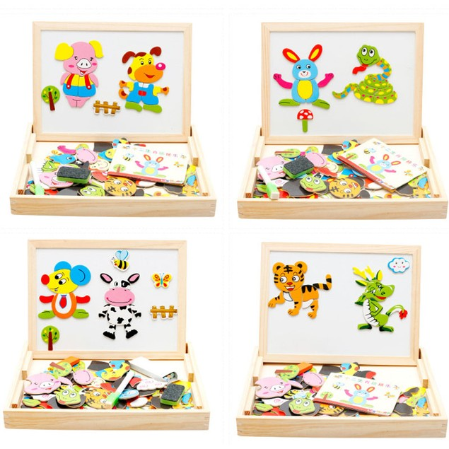 Kids Animal Drawing Board Magnetic Easel