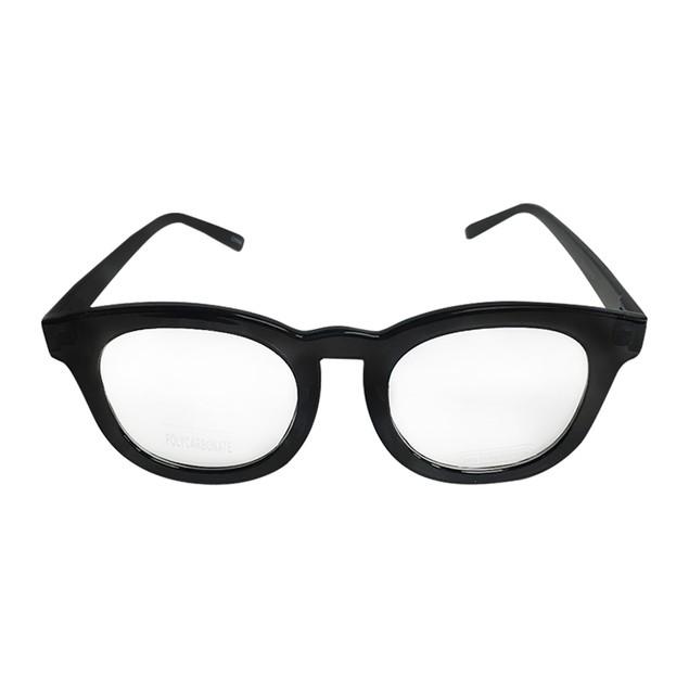 Black Rounded Frame Clear Glasses Johnny Depp Sunglasses Round Lens