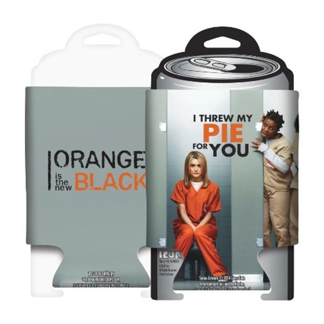 Orange is the New Black I Threw My Pie Can Cooler Hugger Huggie