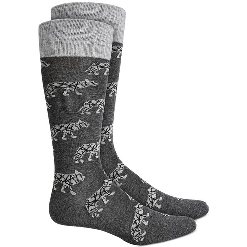 Alfani Men's Wolf Socks Gray Size 10-13