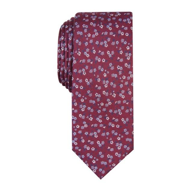 Bar III Men's Penrose Skinny Floral Tie Blue Size Regular