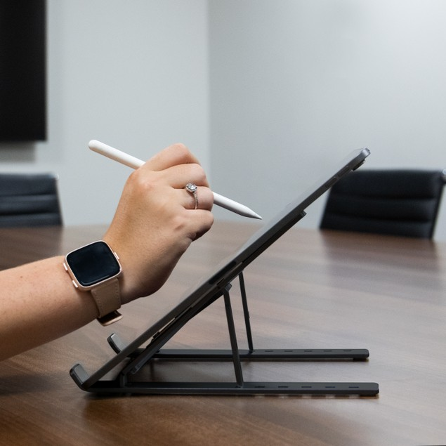 Portable Laptop and Tablet Stand | Pukkr Black