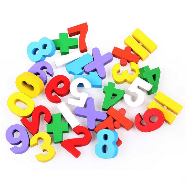 Wooden Numbers Mathematics Early Learning Educational Toy