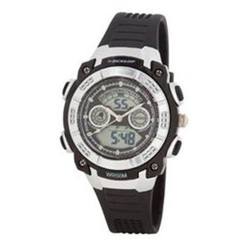 Dunlop Bloom Woman´s DUN244L01 LCD Dial Analog & Digital Watch Black Strap