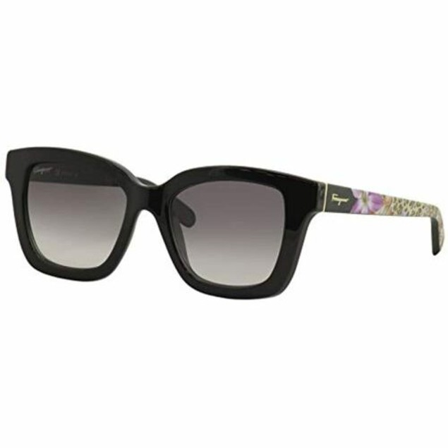 Salvatore Ferragamo Sunglasses for Women SF858S Black Rectangle 100% UV