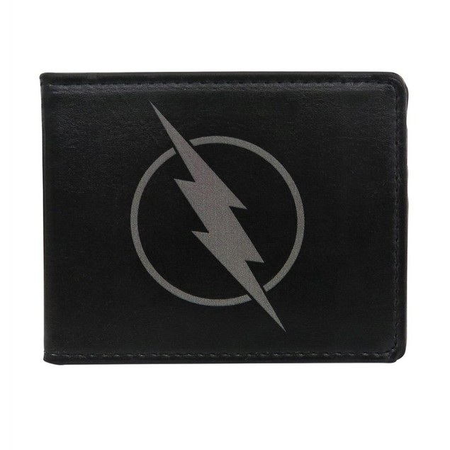 Flash Zoom Symbol Men's Black Bi-Fold Wallet