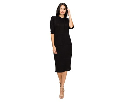 Women's Hoodie Pocket Dress Was: $49.99 Now: $33.99.
