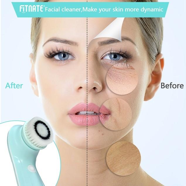 Fitnate® Facial Cleanser Brush  3in1 Waterproof Facial Massager Face Brush