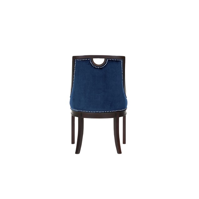 Chic Home Elijah Neo Traditonal Velvet Nailhead Dining Side Chair