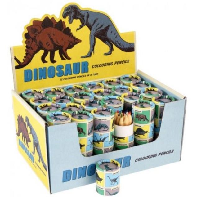 Coloured Pencils Prehistoric Dinosaur