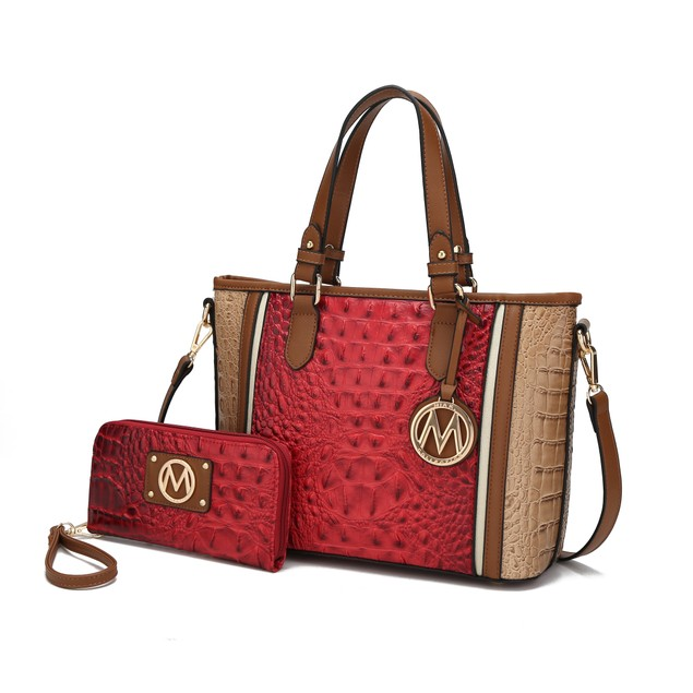 MKF Collection Lizza Croco Embossed Tote by Mia K