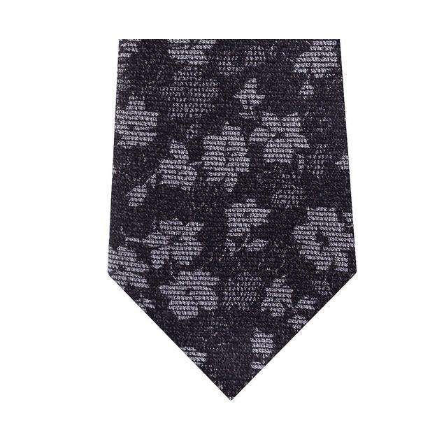 Michael Kors Men's Artisanal Shadow Botanical Tie Black Size Regular