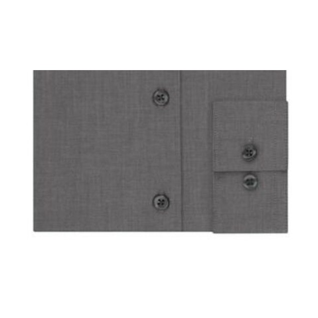 Kenneth Cole Unlisted Men's Slim-Fit Solid Dress Shirt Gray Size 18-34-35