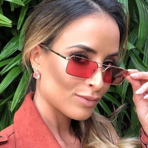 Fashion Double Beam Square Sunglasses