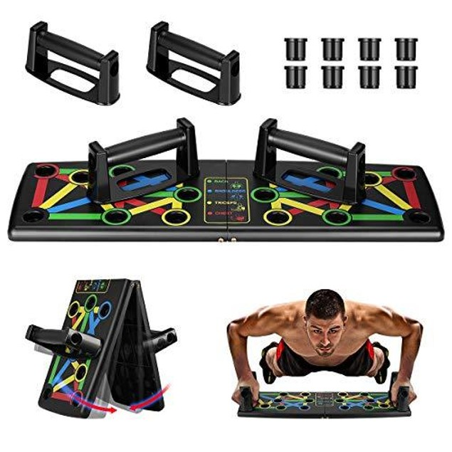 9 in 1 Push Up Rack Board System Fitness Workout Train Gym Exercise