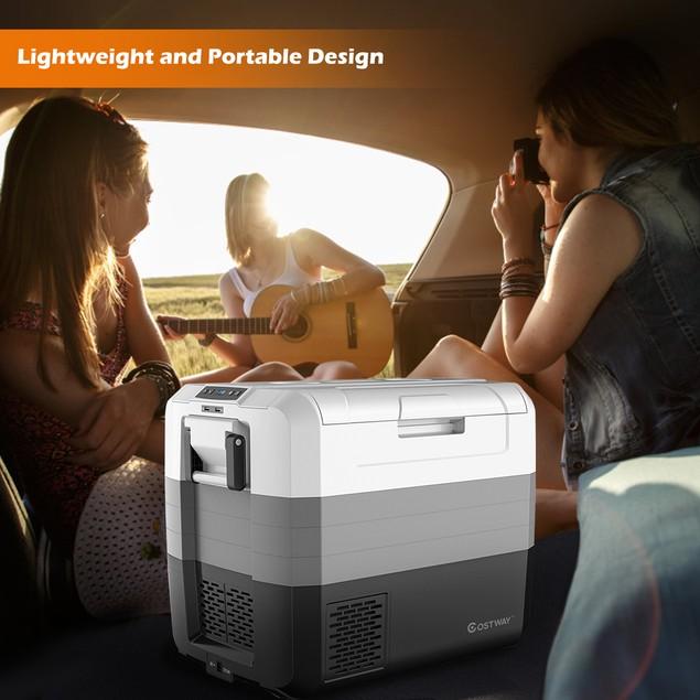 Costway 70 Quart Portable Electric Car Cooler Refrigerator/Freezer