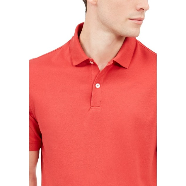 Club Room Men's Classic Fit Performance Pique Polo Orange Size Large