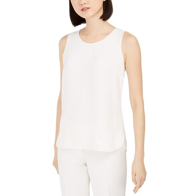 Anne Klein Women's Woven Top White Size X-Small