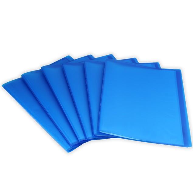 Set of 6 A4 Display Folder   Pukkr Blue