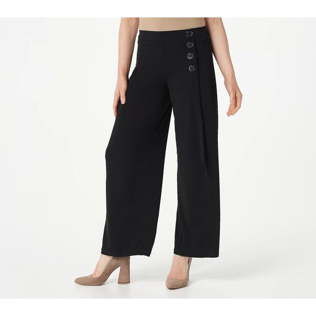 Every Day by Susan Graver Regular Liquid Knit Pull-On Pants, 2X, Black