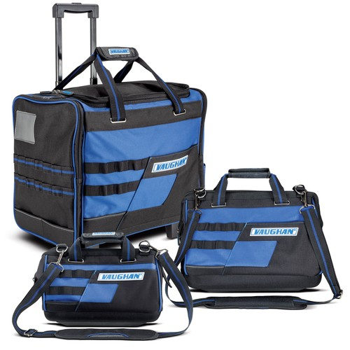 """3 Piece Tool Bag Set, 18"""" Roller, 16"""" & 13"""" Wide Mouth Bags"""