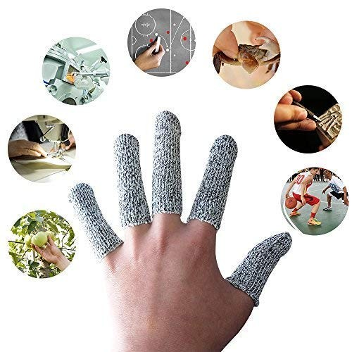 20-Pack Finger Cots Cut Resistant Protection Glove HPPE Rated- 2 Sizes