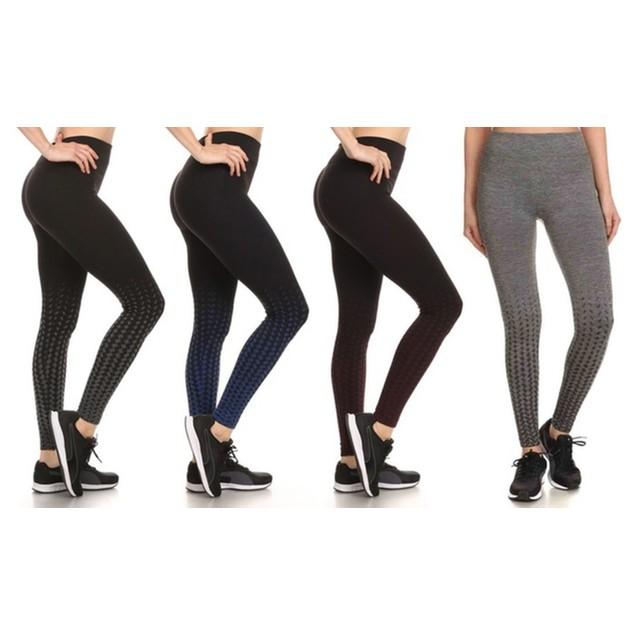 4-Pack Women's Active Fleece Lined Performance Leggings