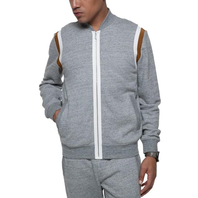 Sean John Men's Marled Track Jacket Shades of Grey Size Medium