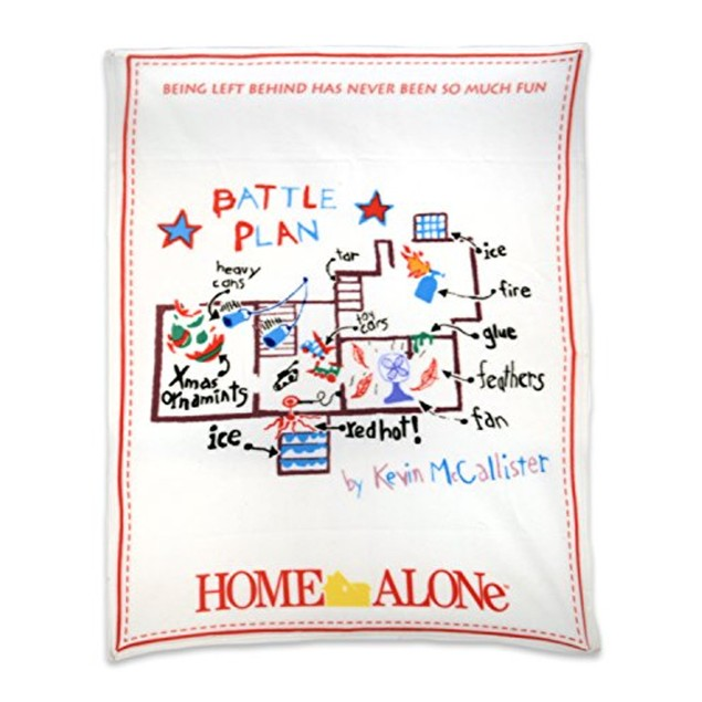 Battle Plan Home Alone Fleece Throw Blanket