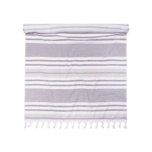 100% Cotton Fouta Beach Towel, Meera Stripes
