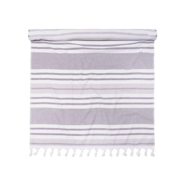 100% Cotton Fouta Beach Towel, Meera Stripes