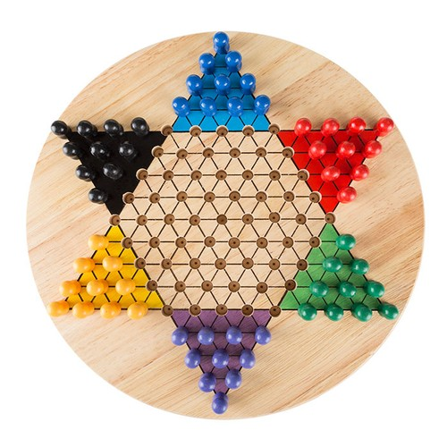 Chinese Checkers Game Set with 11 inch Wooden Board