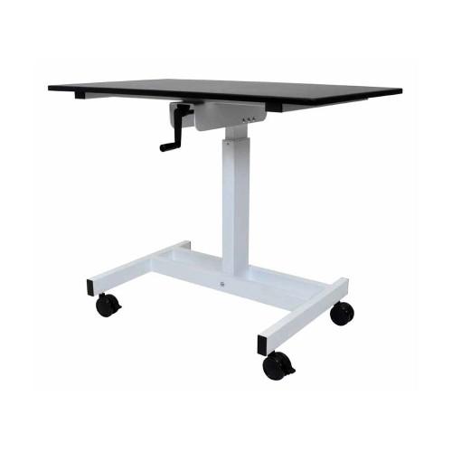 """Luxor 48"""" Single - Column Crank Adjustable Stand Up Desk - Black"""