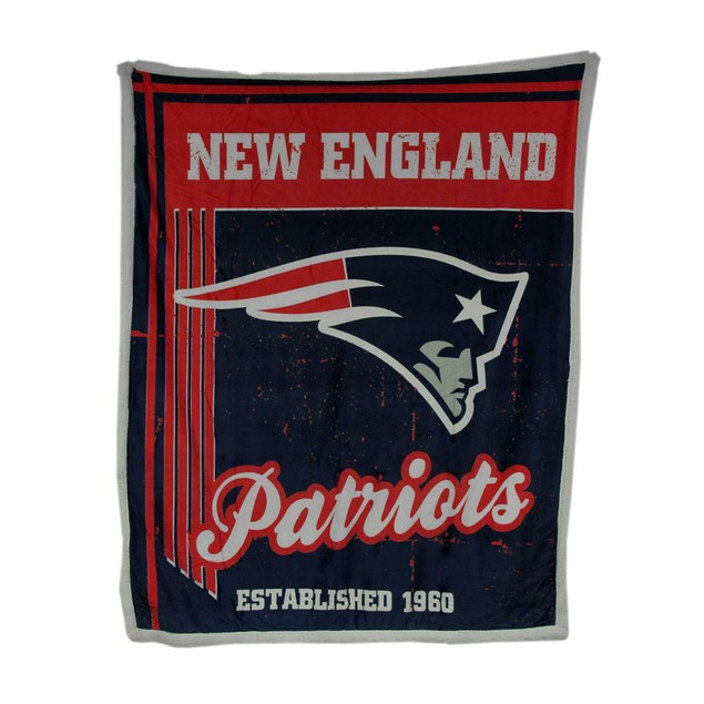 Officially Licensed New England Patriots Micro Throw Blankets