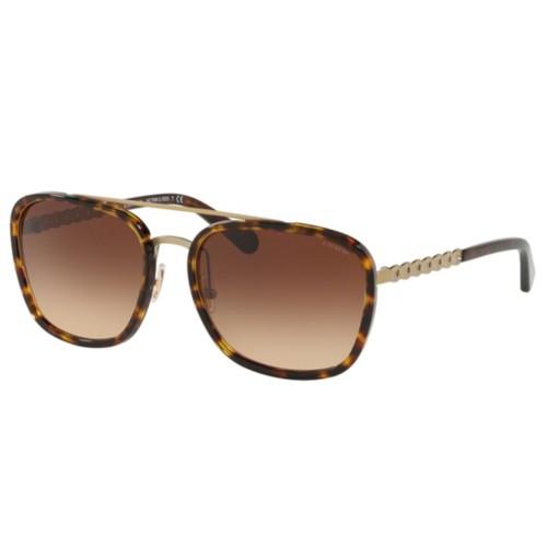 COACH -Sunglasses Sanded Shiny Gunmetal/Grey 58mm