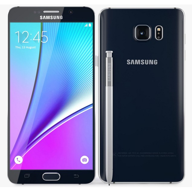 Samsung Galaxy Note 5, AT&T, Black, 64 GB, 5.7 in Screen