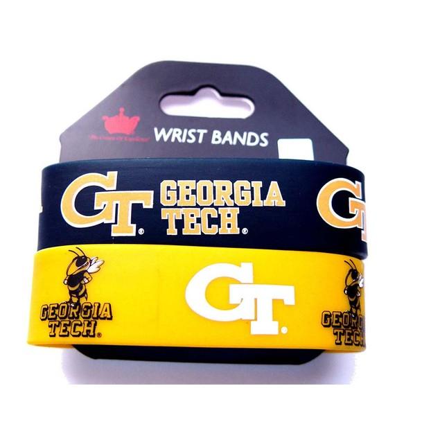 Georgia Tech Yellow Jackets Rubber Wrist Band (Set of 2) NCAA