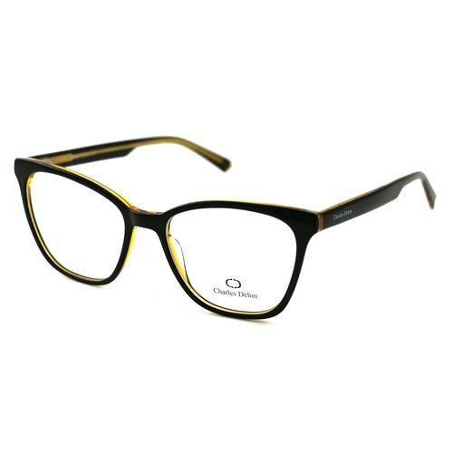 Charles Delon Men's Eyeglasses LZ2033 C1 Matte Black 55 21 145 Square Plastic