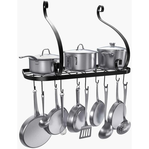Pot And Pan Rack Hook Holder Hanging Kitchen Organizer