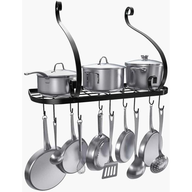 Pot And Pan Rack Hook Holder Hanging Kitchen Organizer