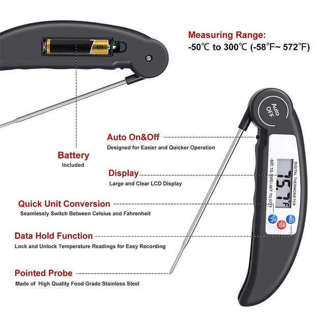 2-Pack Digital Meat Thermometers