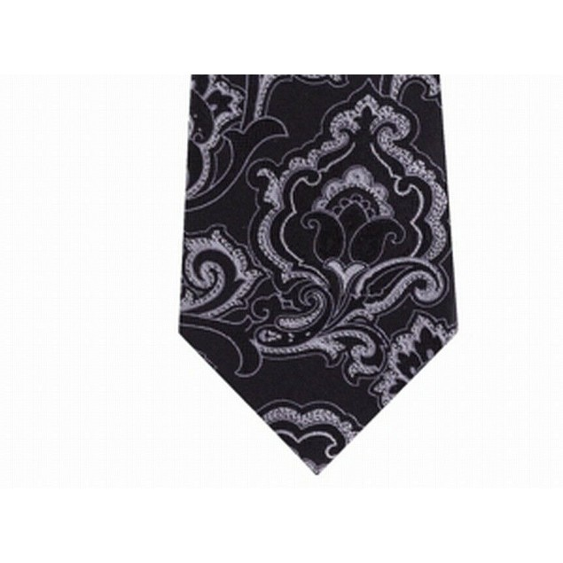 Michael Kors Men's Intricate Outlined Paisley Tie Brown Size Regular