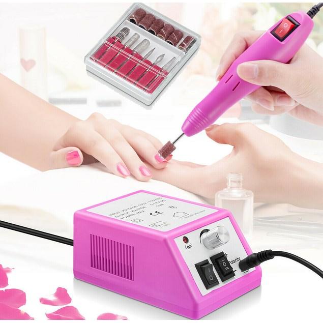 Portable Nail File Drill Kit Electric Manicure Pedicure Acrylic