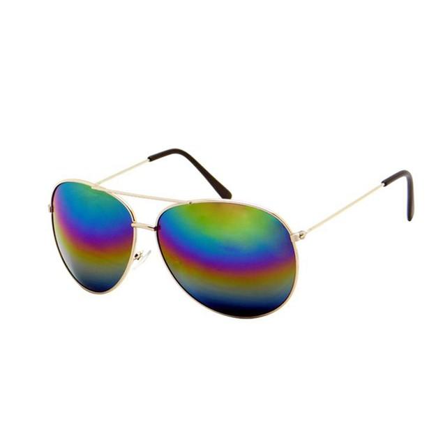 Rainbow Mirrored Aviator Sunglasses Aviators Sun Glasses Aviator Day Night
