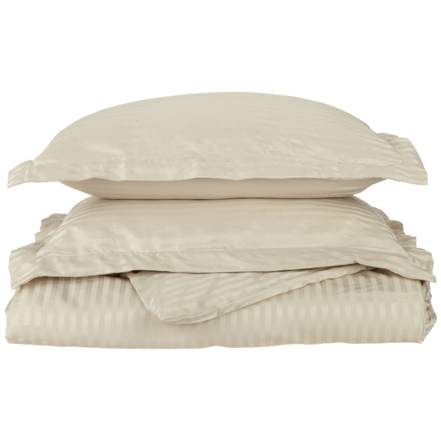 Striped Duvet Cover Set, Soft Wrinkle Free Microfiber