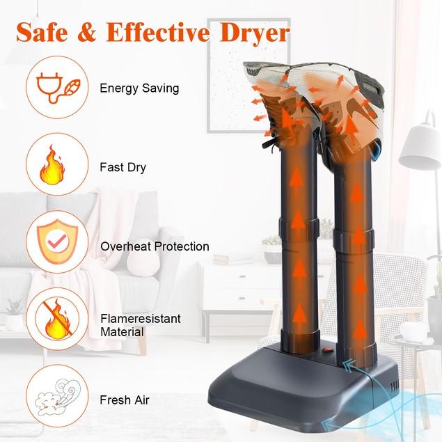Costway Electric Shoe Dryer Mighty Boot Warmer Glove Dryer Prevent Odor Mol